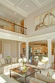 two story family room with coffered ceiling - Google Search
