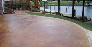 Home Impressive Stained Concrete Slab Patio 4 Modern Stained