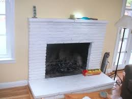 image of angreeable paint a brick fireplace white