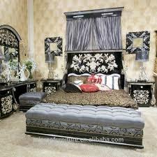 Latest Royal Bed Designs Latest Antique Royal Style Black Color Pakistan Luxury Wood Double Bed Designs With Silver Foil Buy Wood Double Bed Designs Luxury Wood Double Bed