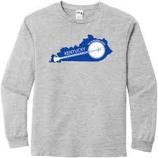 Kentucky State Shaped Banjo Long Sleeve T Shirt