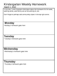 Homework Sheet Template For Teachers Weekly Newsletter And Homework Sheet Teacher Stuff Pinterest