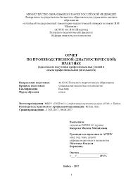отчет по производственной практики по получению