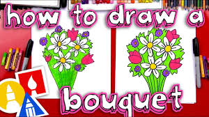How To Draw A <b>Flower</b> Bouquet - YouTube