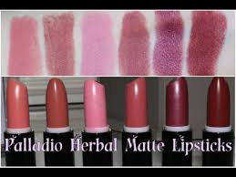 new palladio herbal matte lipsticks review lip swatches