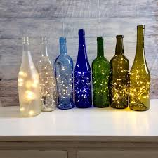 Decorated Wine Bottles With Lights Inside Wine Bottle Decor Lights Inside Wine Bottle battery operated 2