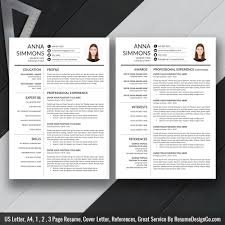 2019 Best Resume Template Word Modern Cv Template 2019 Cover Letter References Word Resume Professional Resume Resume Design Instant Download