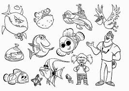 Finding Nemo Characters Coloring Pages Printable Coloring Pages
