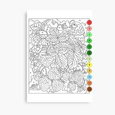 .number template and transfer it to canvas to make your own diy paint by numbers diy wall art but each click is a new color you have to paint, so find a happy medium. Color By Number Canvas Prints Redbubble