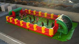 Inflatable Table Inflatable Human Foosball Table Dudeiwantthatcom