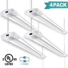 Led Shop Lights Amazon Com Linkable Led Shop Lights For Garage 4ft 40w 4200