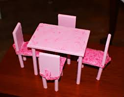 make your own barbie furniture. DIY Barbie Dining Room Table \u0026 Chairs. This Was A First Try, I\u0027 Make Your Own Furniture