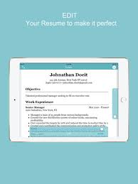Resume  CV Builder   Designer For Your Job Search on the App Store iPad Screenshot