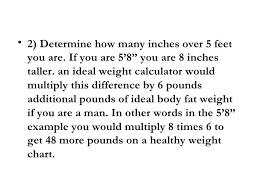 Ideal Weight Men