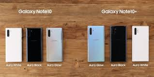 Samsung Note Comparison Chart Galaxy Note 10 Vs Galaxy Note 10 Plus All The Major