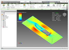 with flow design for inventor you can explore the flow results or make adjustments to the inventor geometry as the wind tunnel runs