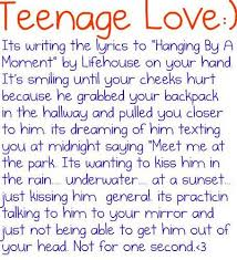Teen Age Love Quotes