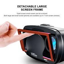3D VR Tai Nghe Thông Minh Thực Tế Ảo 7 Inch Mũ Bảo Hiểm Dành Cho Điện Thoại  Thông Minh Điện Thoại Android iPhone Ống Kính Với Bộ Điều Khiển Ống Nhòm