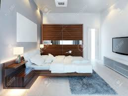 Light Brown And White Bedroom The Design Of Modern Light Bedroom With A Large Sliding Closet