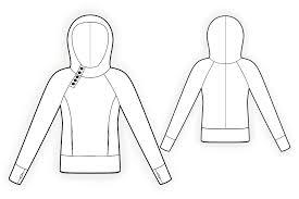 Sweatshirt Pattern Classy Sweatshirt Sewing Pattern 48 Madetomeasure sewing pattern