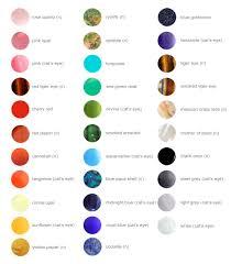 California Collar Co Gemstone Color Chart 2015 Gemstone
