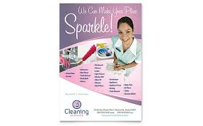 Housekeeping Flyers Templates House Cleaning Service Flyers Templates Graphic Designs