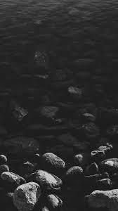 mm96-stone-dark-bw-lake-nature-water