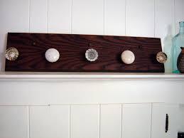 Knob Coat Rack Inspiration Vintage Wood Coat Rack With Antique Glass And Porcelain Door Knobs
