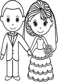 Wedding Coloring Page Zupa Miljevcicom