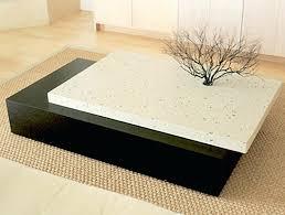 granite coffee table. Granite Coffee Table Oval Copper Top Glass Display .