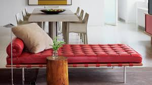 a red barcelona couch