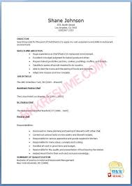 Pastry Chef Resume Samples Velvet Jobs Example Examples Sample ...