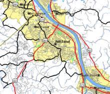 ashland, kentucky wikipedia Ashland Map map of ashland and the surrounding vicinity ashland maplewood
