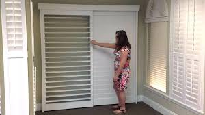 plantation shutters for sliding glass doors large size of plantation shutters vs home depot bypass shutters