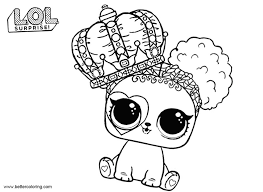 Lol Pets Coloring Pages Heart Barker Free Printable Coloring Pages