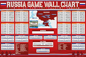 World Cup 2018 Wall Chart Russia 2018 World Cup Wall Chart Poster Amazon Ca Home