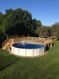 above ground round pool with deck. Perfect Ground Above Ground Pool Deck For 24 Ft Round Pool Deck Is 28x28 More To Ground Round Pool With V