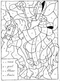 Sint Op Paard Kleuren Op Letter Kinderkiné Sinterklaas Sint