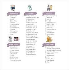 Baby Registry Checklist Templates 12 Free Word Excel Pdf