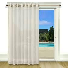 furniture appealing patio curtain panel 8 bal harbour solid semi sheer grommet single blackout patio door
