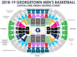 Capitals Interactive Seating Chart Capital One Arena Seating Chart Georgetown University