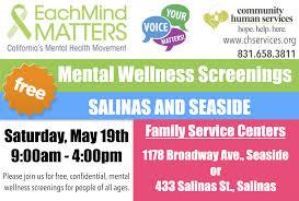 Free Mental Wellness Screenings Community Human Services