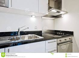 Kitchen Counter Kitchen Counter With Granite Worktop Royalty Free Stock