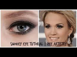 carrie underwood inspired smokey eye makeup tutorial by zee artistry