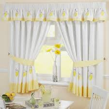 Yellow Kitchen Decorating Decoration Yellow White Curtains Decorating Stripe Curtain The