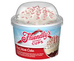 Red Velvet Cake Dessert Cup Friendlys