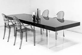 lucite plinth leg dining table in black lucite dining table57