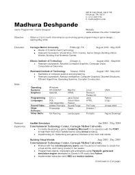 Resume Msc Computer Science Computer Science Resume Samples Jobsxs Com