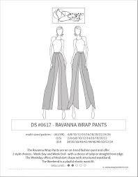 Wrap Pants Pattern Enchanting Ravanna Wrap Pants Sewing Pattern PDF Designer Stitch