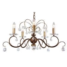 photo 8 of 8 chandelier cut out drum fixtures elstead lun5 br lunetta 5 light bronze patina chandelier